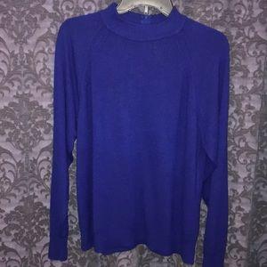 Cobalt blue high neck sweater with zipper  XL
